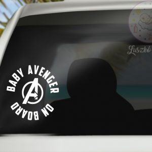 Baby on the board avengers matrica