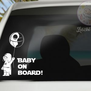 Baby on the board Star Wars matrica