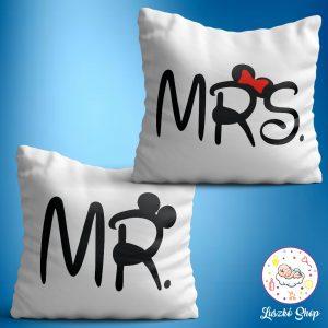 Mr és Mrs páros párnaszett