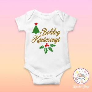 Boldog Karácsonyt baby body