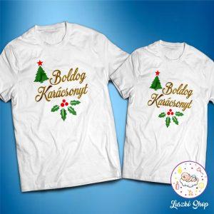 Boldog karácsonyt páros póló