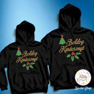 Boldog karácsonyt páros pulóver