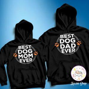 Best Dog and Mom Ever páros pulóver szett
