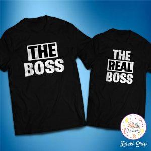 The Boss és The Real Boss páros póló szett