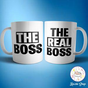 The boss és the real boss páros bögre
