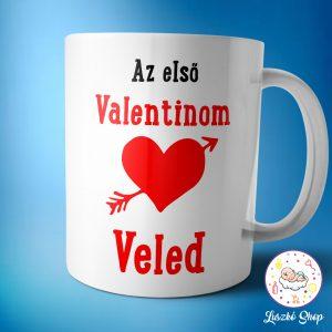 Első valentinom veled bögre