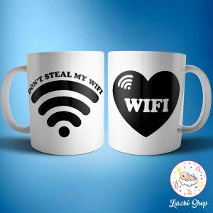 Wifi páros bögre