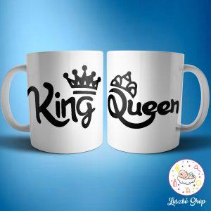 King Queen páros bögre