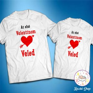 Első valentinom veled páros póló
