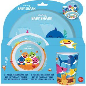 Baby shark étkészlet 3dbos